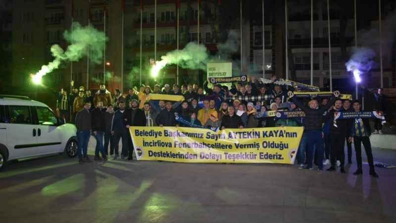 İncirliova Fenerbehçeliler, maç için İstanbul'a gitti