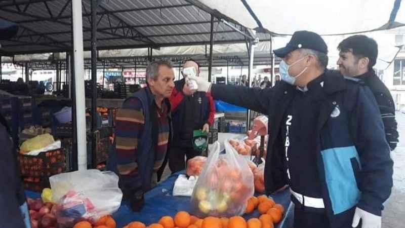 Karpuzlu pazarında tedbirler alındı