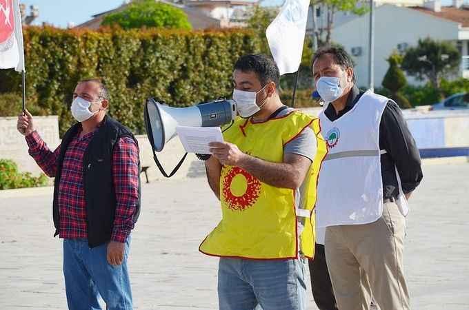 Didim'de 1 Mayıs virüs tedbirleri kapsamında kutlandı
