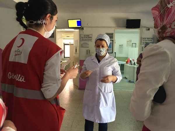 Kızılay'dan sağlık çalışanlarına destek