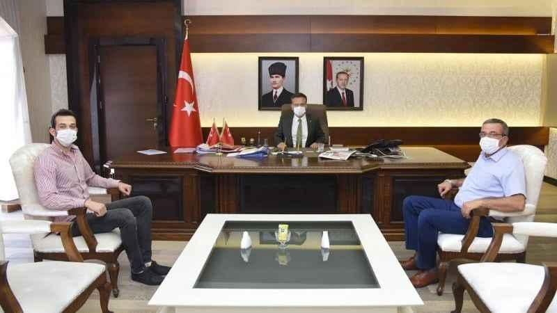 Murat Görgülü, Vali Aksoy'u ziyaret etti