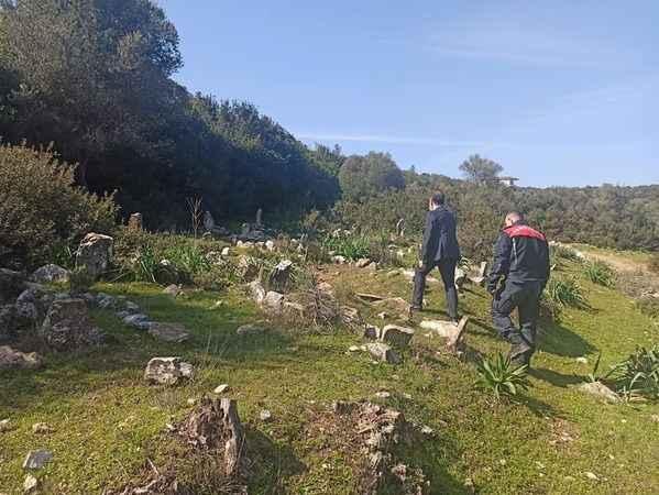 Kaymakam Avşar, saklı mezarlığı ziyaret etti