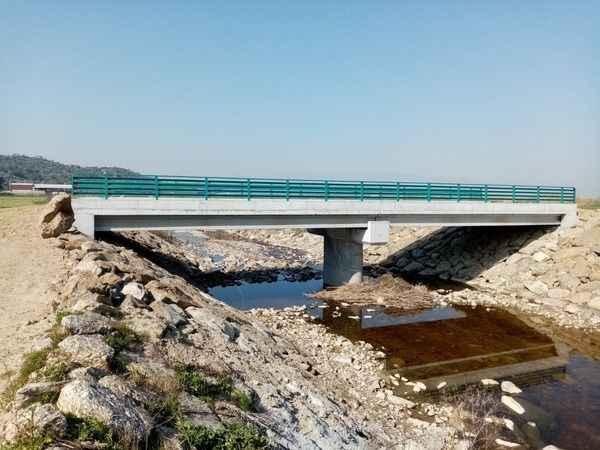 Söke'de yapımı 4 ayda tamamlanan köprü hizmete açıldı