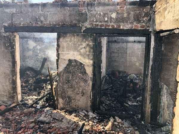 Çine SHM'den evi yanan aileye destek
