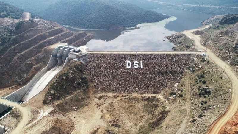 Gökbel Barajı'nda su seviyesi yükseliyor