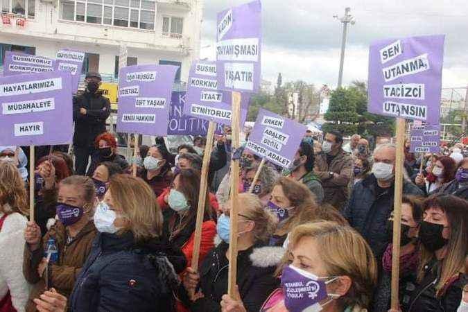 Kadınlar, İstanbul Sözleşmesinin feshine 'hayır' dedi