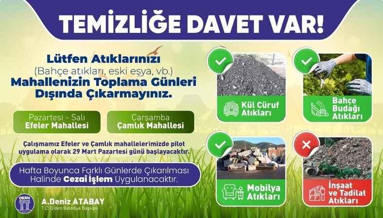 Didim Belediyesinden yeni çöp toplama uygulaması