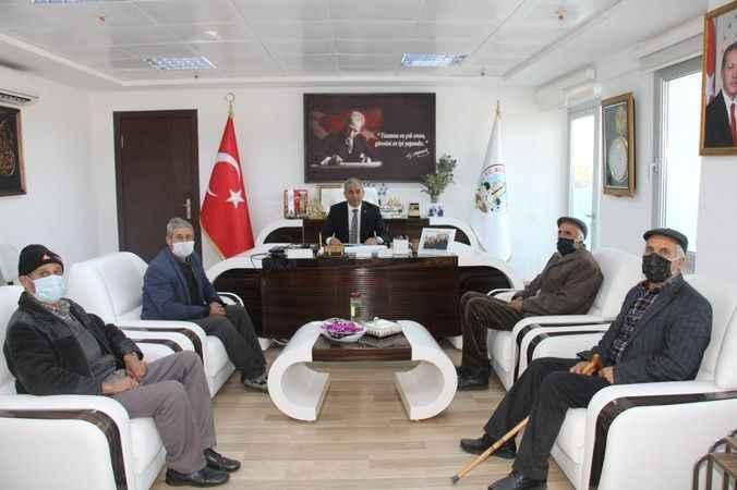 Karacaörenlilerden Başkan Kaplan'a ziyaret