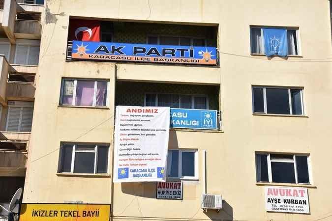 Karacasu'da 'andımız' asıldı