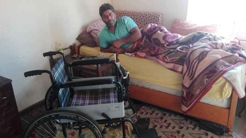 Karabulut, tekerlekli sandalyesine kavuştu