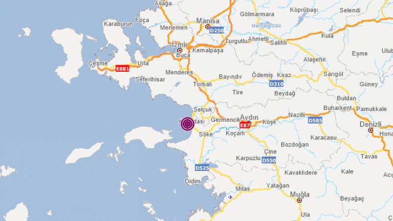 Aydın'da bir dakikada iki deprem