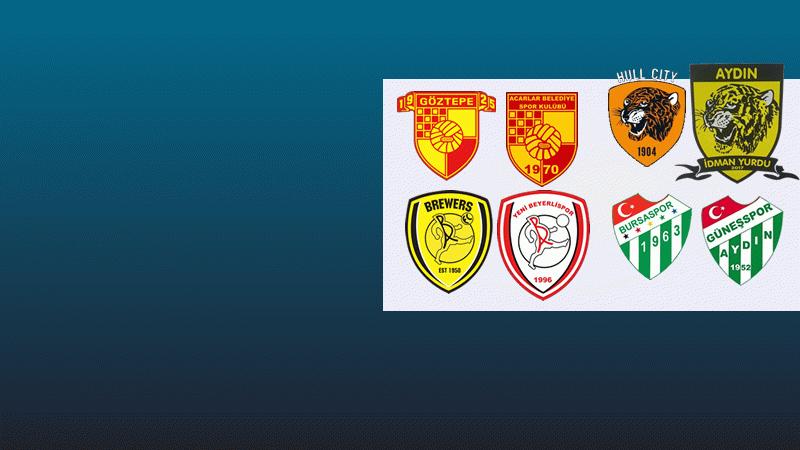 Amatör kulüplerin logolarındaki şaşırtan benzerlik