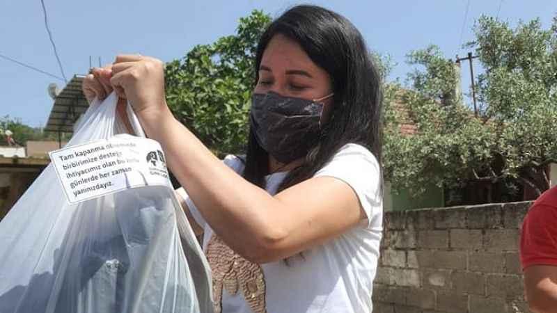 CHP Çine Örgütü'nden ihtiyaç sahibi vatandaşlara gıda yardımı