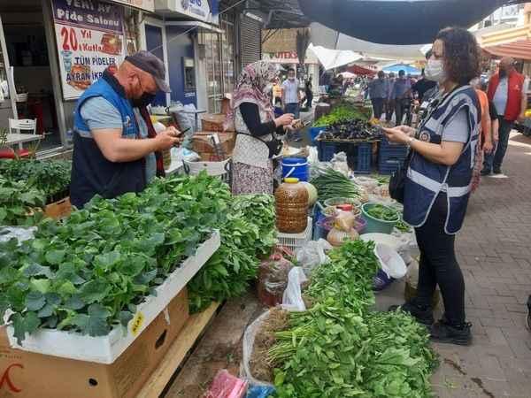 Nazilli Emniyeti, pazar yerlerinde sıkı önlem aldı