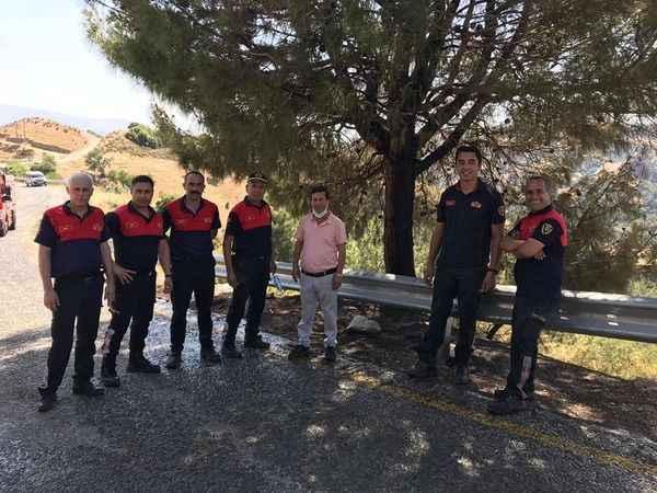 Muhtar Şahin'den itfaiye ekiplerine teşekkür