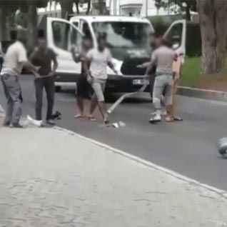 Şehir merkezinde piknik tüplü kavga