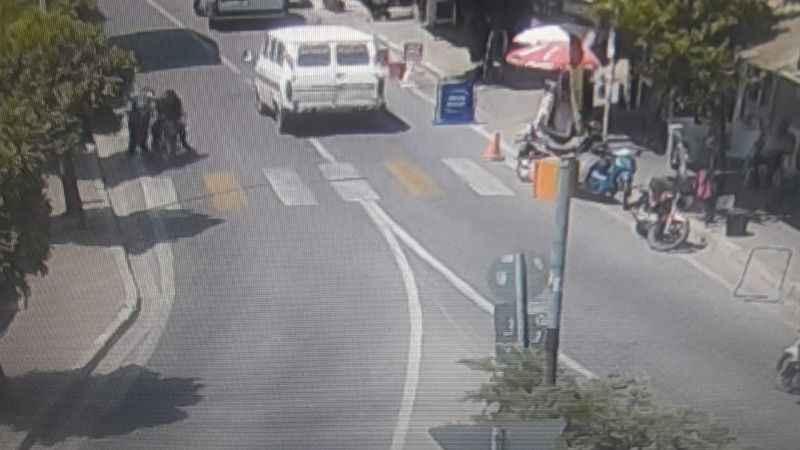 Yenipazar'da korkutan kaza