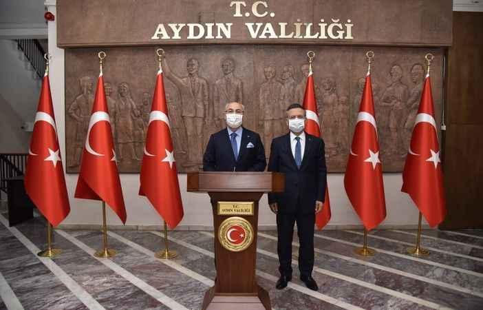 İzmir Valisi Köşger'den Vali Aksoy'a ziyaret