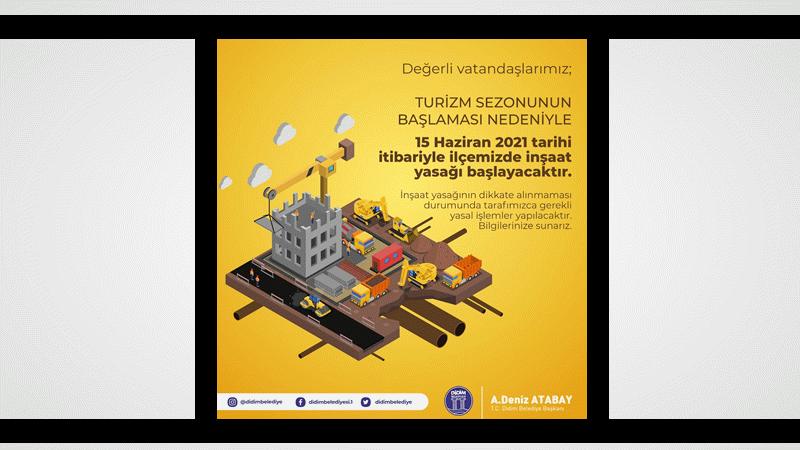 Didim'de inşaat yasağı başlıyor