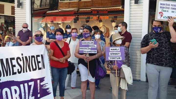 Kuşadası'nda kadınlar İstanbul Sözleşmesi'nin iptaline direniyor