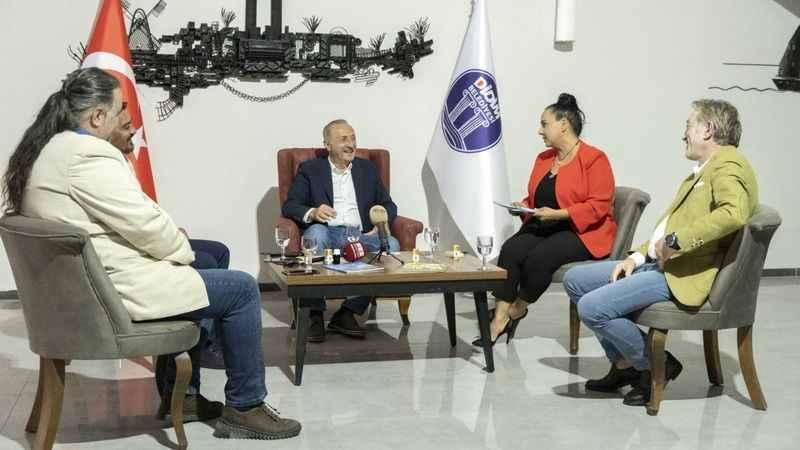 Başkan Atabay, gazetecilerin sorularını cevapladı
