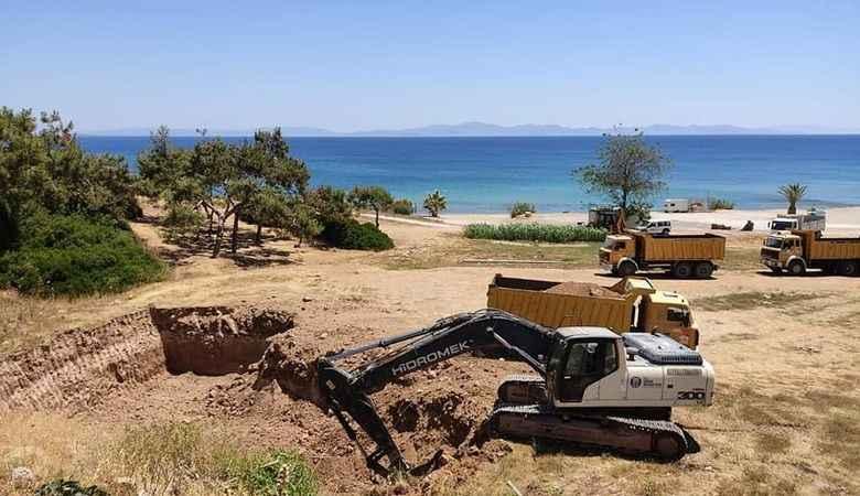 Atabay'ın mega projelerinden amfi tiyatro için ilk kepçe vuruldu