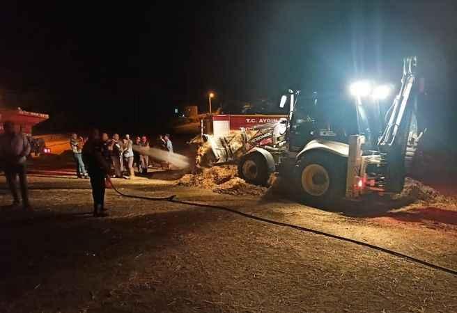 Bozdoğan'da yem deposu yandı