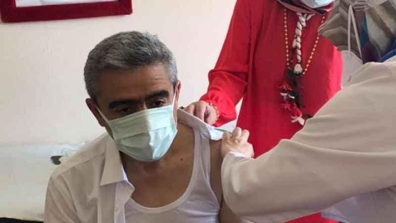 Alıcık, Kovid-19 aşısı oldu