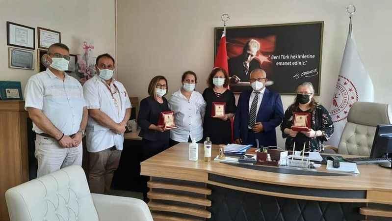 Çine Devlet Hastanesi'nden sağlık personellerine vefa