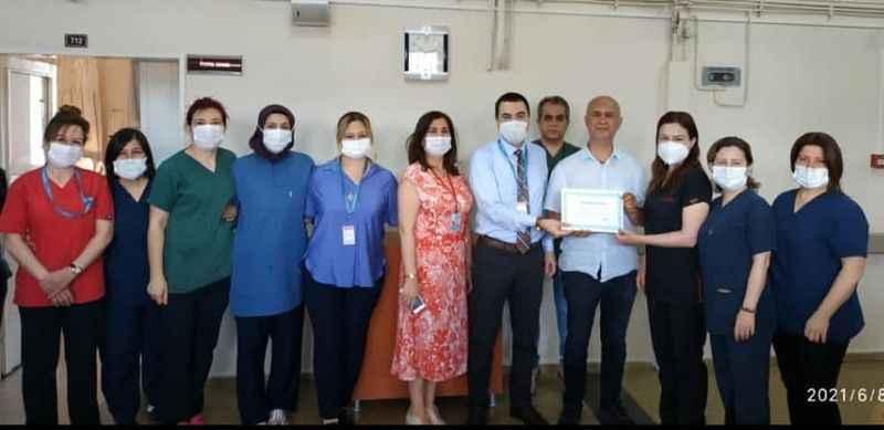 Açıkgöz'den sağlık çalışanlarına teşekkür belgesi