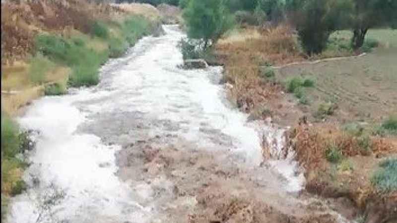 Dereler taştı, tarlalar sular altında kaldı