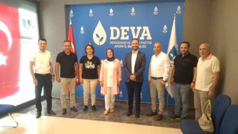 Aydın'da Gelecek Partisi'nden DEVA Partisi'ne nezakat ziyareti