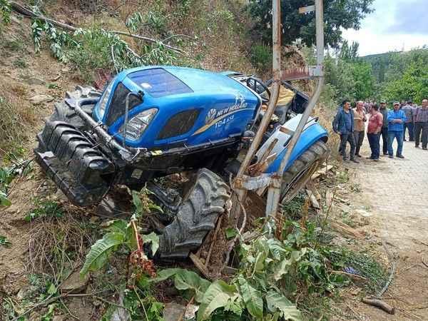 Kuyucak'ta traktör kazası, 1 ölü