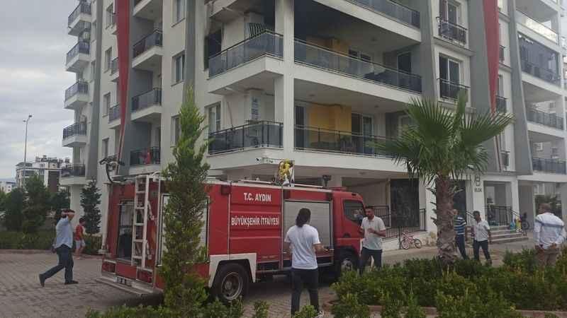 Yangından kurtulmak için 2. kattan atladı