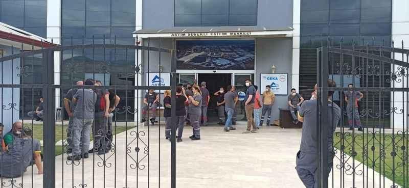 ASTİM OSB'de sanayi çalışanları aşılanıyor