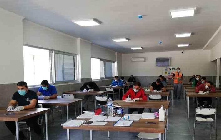 NTO'da mesleki yeterlilik belgesi sınavı yapıldı