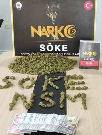 Söke'de 1 kilogram uyuşturucu madde ele geçirildi