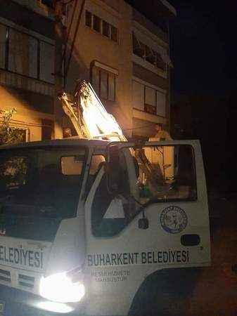 Buharkent Belediyesinden hızlı müdahale