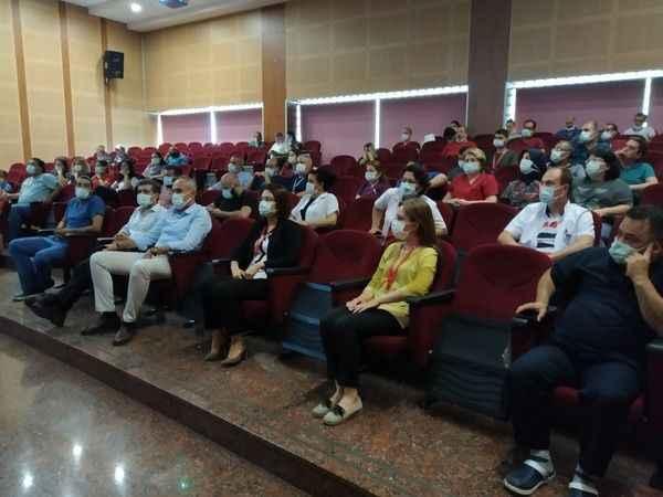 Aydın'da hastane personeline yangın eğitimi verildi