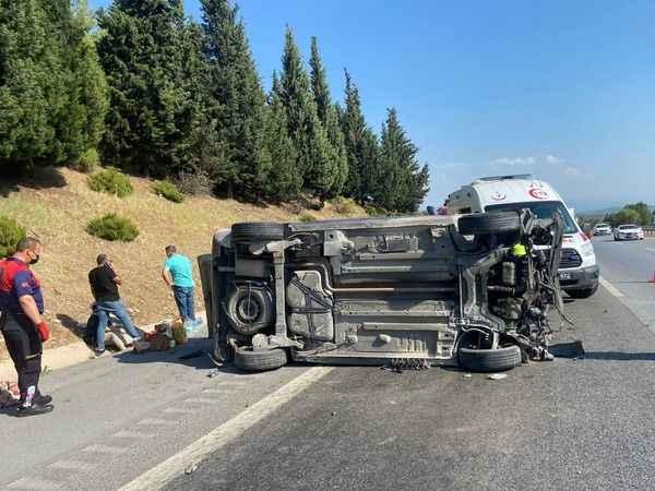 Aydın'da otomobil takla attı; 4 yaralı