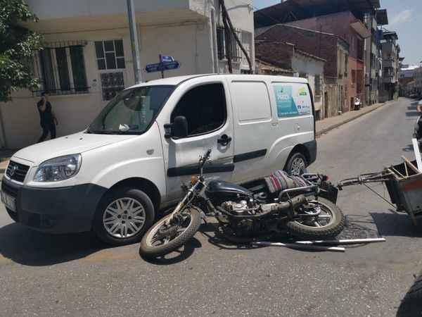 Nazilli'de kaza, 1 yaralı