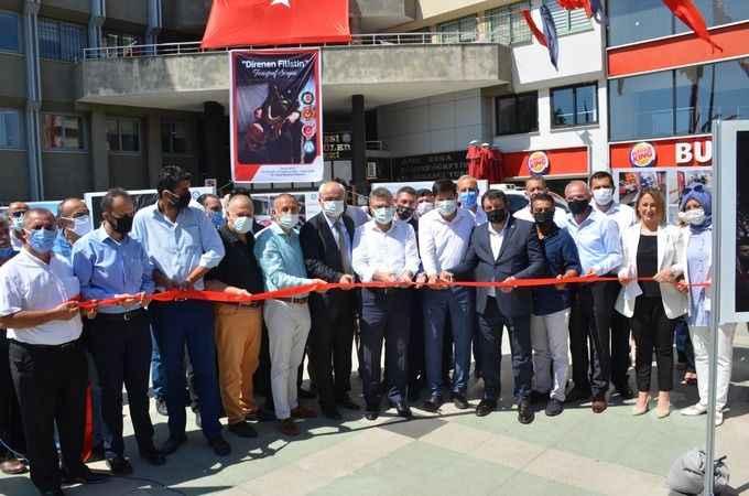 Medya-İş, Nazilli'de 'Direnen Filistin' sergisi açtı
