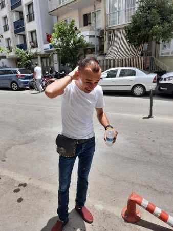 Aydın'da sıcak havadan bunalan vatandaşlar, suyla serinledi