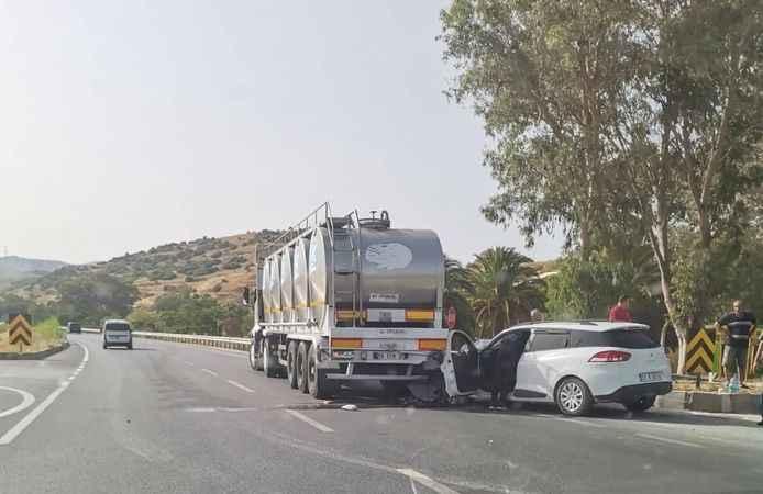 Aydın'da tır ile otomobil çarpıştı: 3 yaralı