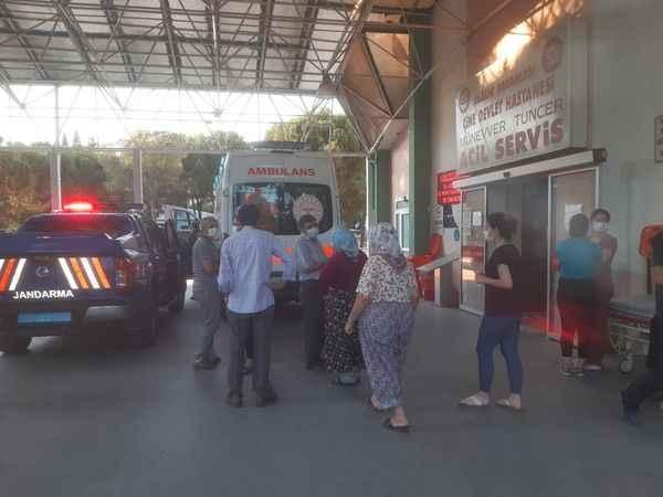 Aydın'da devrilen otomobildeki 4 kişi yaralandı