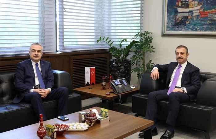Savaş'tan Merkez Bankası Başkanı Kavcıoğlu'na ziyaret