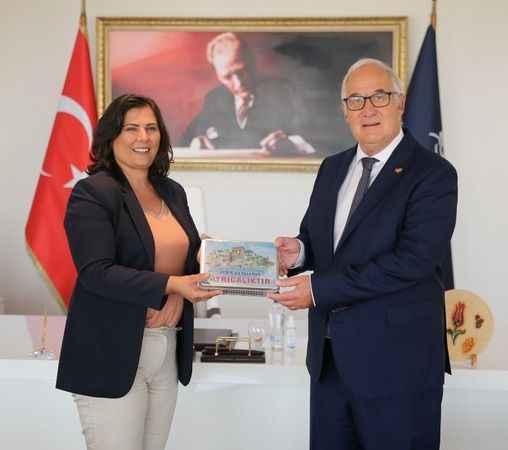 Almanya İzmir Başkonsolosu, Başkan Çerçioğlu'nu ziyaret etti