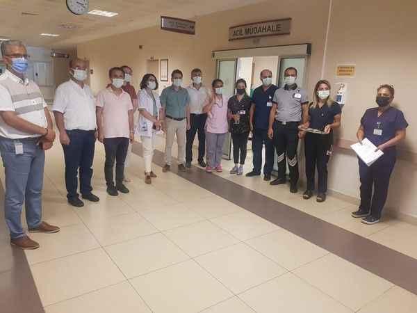 NDH yönetimi, personel ve hastalarla bayramlaştı