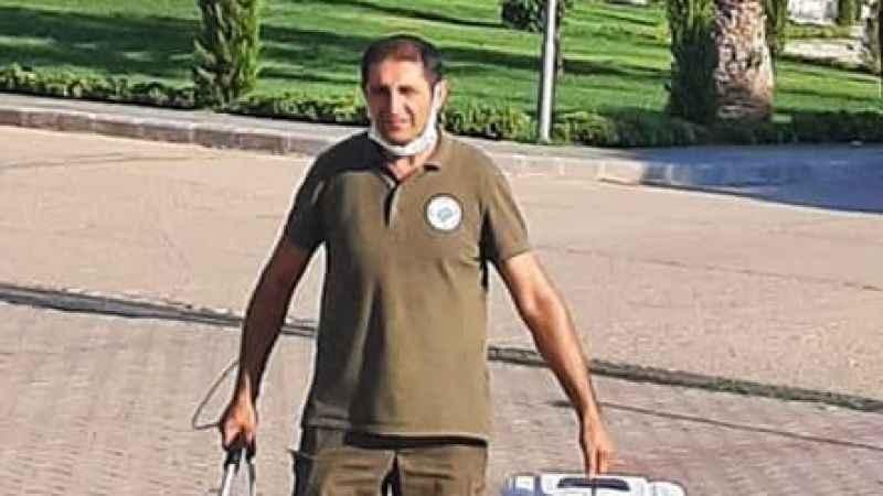 DSİ'de mahsur kalan gelincik kurtarıldı