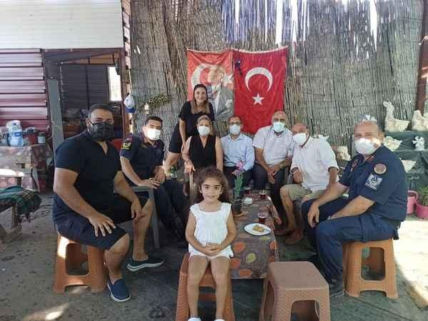 Kaymakam Avşar'dan şehit aileleri ve gazilere bayram ziyareti